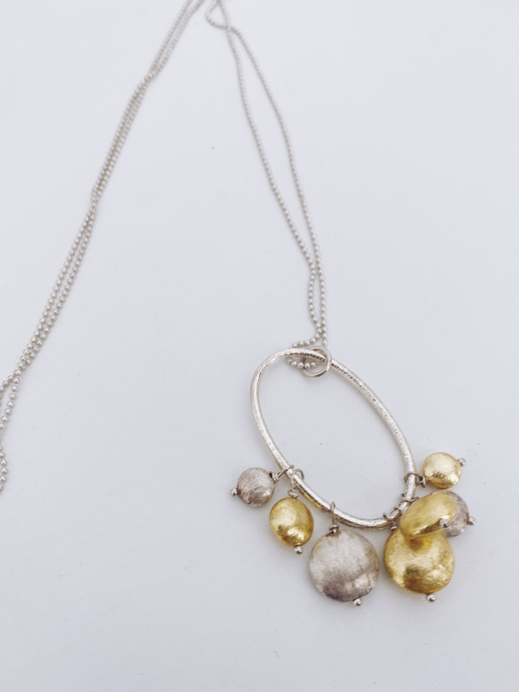 Long Gold/Silver Nugget Necklace