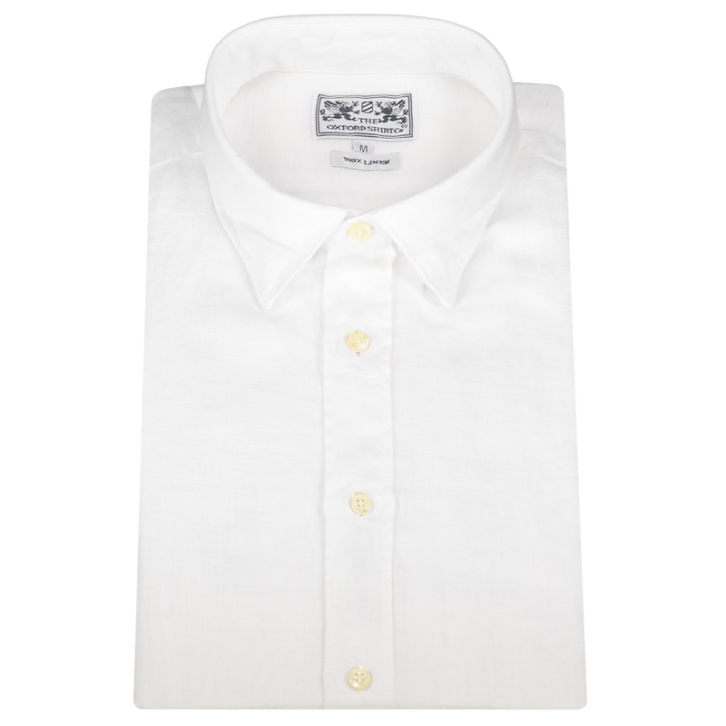 Men's Linen Shirt | White