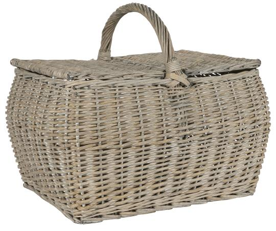 Willow Picnic Basket with Lid