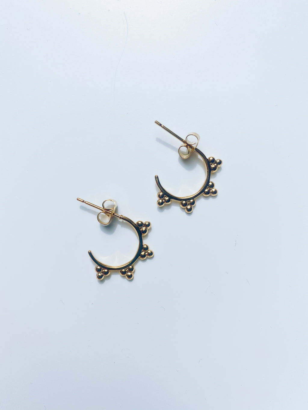 Bobble Cluster Small Hoop Earrings