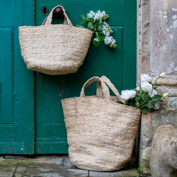 Jute Basket with Handles | Large