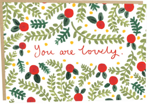 You Are Lovely Greeting/Thank You Card