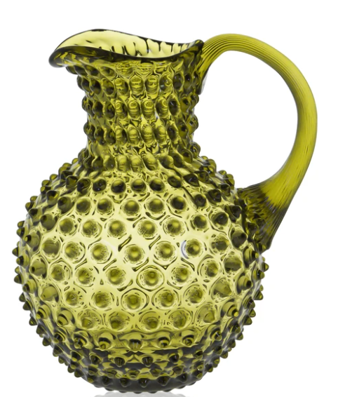 Hobnail Jug | Bonsai Green