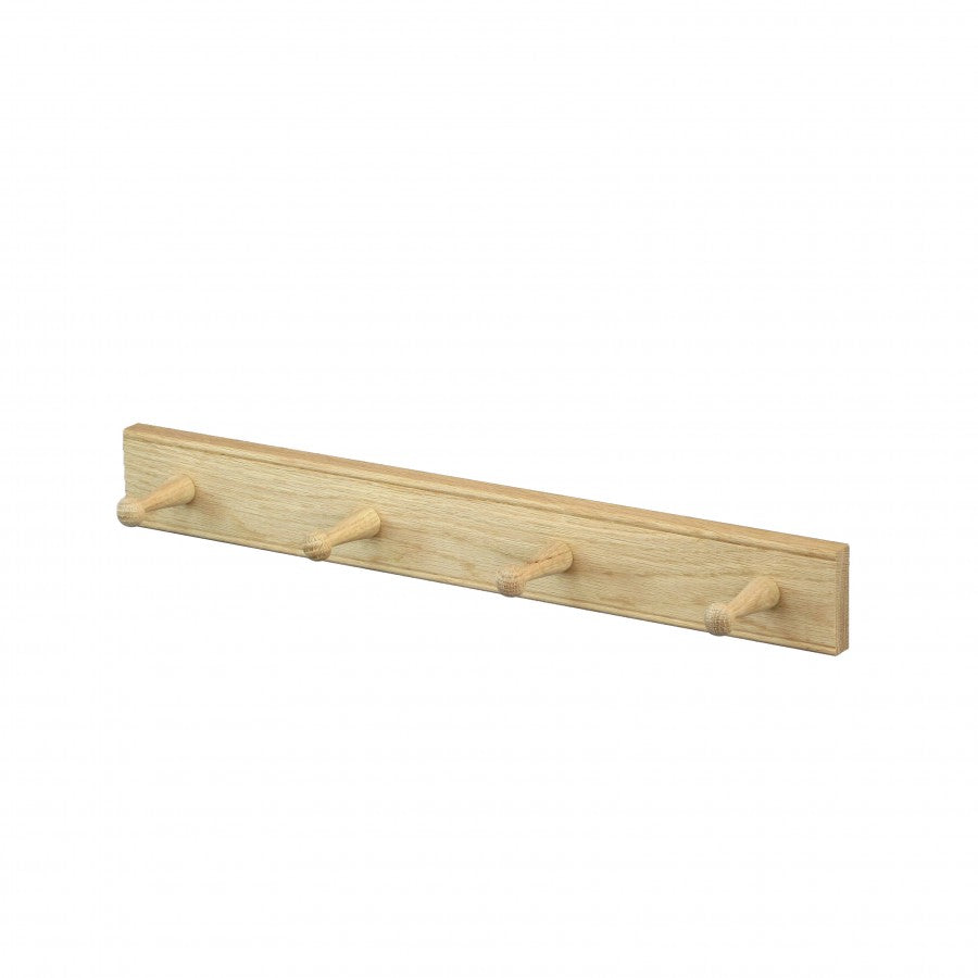 Oak 4 Peg Rail