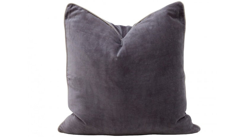 Velvet Cushion | Pewter