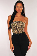 Load image into Gallery viewer, Leopard Print Strapless Bodysuit
