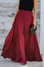 Load image into Gallery viewer, Burgundy Duchess Satin Maxi Skirt