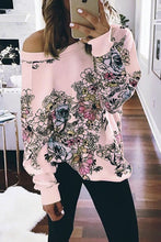 Load image into Gallery viewer, Pink Free People Go on Floral Printed Pullover