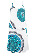 Load image into Gallery viewer, Sky Blue Trendy Print Summer Dress