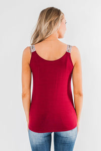 Red Somewhere Next To You Twist Tank Top