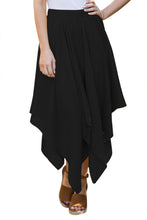 Load image into Gallery viewer, Black Irregular Hemline Midi Overskirt