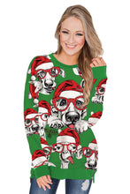 Load image into Gallery viewer, Green Ugly Christmas Cartoon Print Sweatshirt