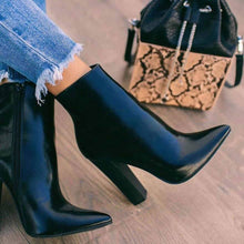 Load image into Gallery viewer, Ankle Boots Women Chunky Heel Luxury Brand Designer Chelsea Boots Women Martin Boots Winter Shoes