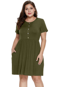Army Green More Than Fair Plus Size Dress