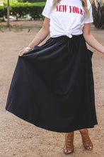 Load image into Gallery viewer, Black Casual Pocket Skirt