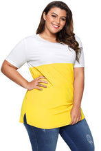 Load image into Gallery viewer, Mustard White Colorblock Pocket Tunic