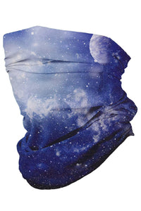 Blue Galaxy Multifunctional Headwear Face Mask Headband Neck Gaiter