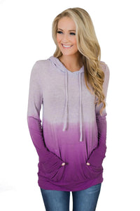 PurpleOmbre Kangroo Pocket Pullover Hoodies