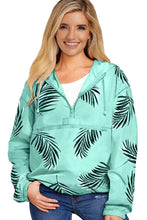 Load image into Gallery viewer, Green Floral Print Rain Jacket