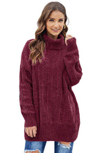 Load image into Gallery viewer, Red Soft Chenille Sweater