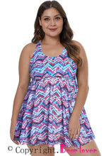 Load image into Gallery viewer, Purple Plus Size Swim Dress
