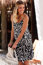 Load image into Gallery viewer, Black Trendy Print Summer Dress