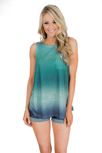 Green Ombre Tank Top