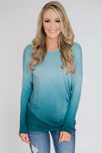 Load image into Gallery viewer, Sky Blue Ombre Long Sleeve Top