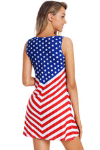 Load image into Gallery viewer, Fourth Of July Sleeveless Flag Dress