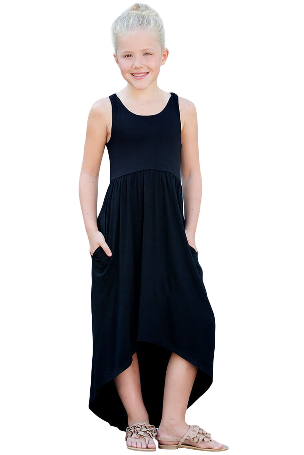 Black Happy Together Kid Dress