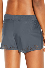 Load image into Gallery viewer, Gray Laser Cut Swim Shorts