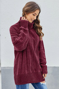 Red Soft Chenille Sweater