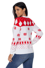 Load image into Gallery viewer, White 3D Christmas Sweater