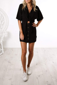 Black Shirt Mini Dress
