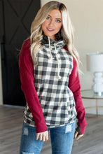 Load image into Gallery viewer, Red Gingham Hoodie