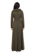 Load image into Gallery viewer, Olive Cow Neck Long Sleeve Maxi Dress