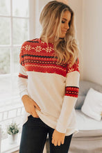 Load image into Gallery viewer, Red On Santa's Nice List Shift Blouse