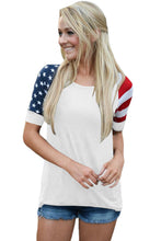 Load image into Gallery viewer, White Stars Stripes Short Sleeve Tee