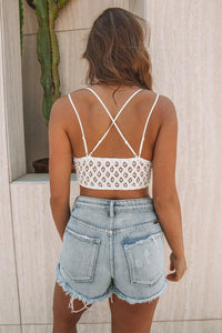 White Crush On You Lace Bralette