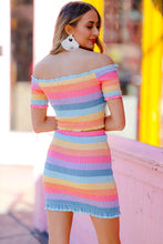 Load image into Gallery viewer, Rainbow Smocked Skirt Set