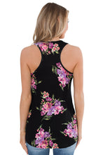 Load image into Gallery viewer, Black Floral Summer Tank