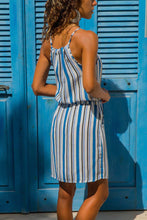 Load image into Gallery viewer, Sky Blue Striped Tank Tunic Dress