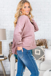 Pink Swoon And Snuggles Chenille Shift Sweater