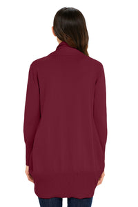 Burgundy Super Soft Long Sleeve Open Cardigan