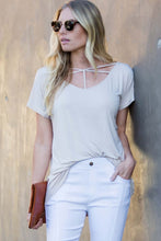 Load image into Gallery viewer, Apricot Short Sleeve Crisscross Strap T-shirt