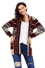 Load image into Gallery viewer, Khaki Aztec Print Cardigan