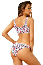 Load image into Gallery viewer, Bowknot Front Center Floral Bikini Swimsuit