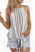 Load image into Gallery viewer, Black Stripe Sleeveless Cami Top