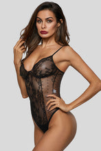 Load image into Gallery viewer, Black Sexy Hollow Out Lace Bodysuit