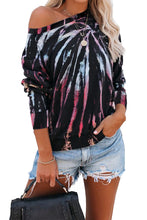 Load image into Gallery viewer, /Multicolor Cotton Blend Tie Dye Pullover Sweatshirt